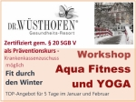 "Fit durch den Winter: Präventions-Workshop ""Aqua-Fitness und Yoga"""